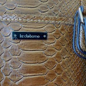 Liz Claiborne Roomy Snake Print Shoulder Bag